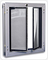 Metal frame doors are better for larger pets because they can be tough on Plastic frames more easily where the Plexidor Tuff Aluminum frames are up to the ...  sc 1 st  Pet Access Solutions & Plexidor Pet Doors | Dog Doors Cat Doors Pet Doors For Sliding ... pezcame.com